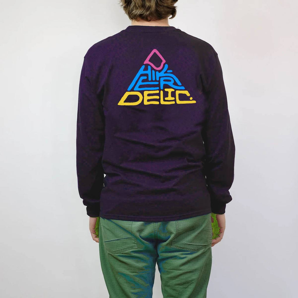 Hikerdelic 60 degrees Mountain Longsleeve T-Shirt - Navy/Multi - Hikerdelic Shop