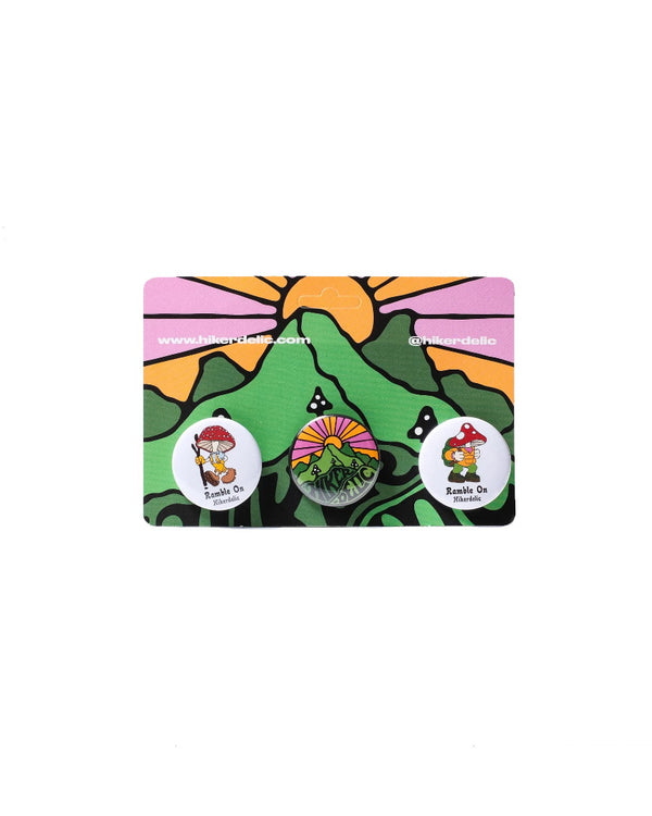 Hikerdelic Button Badge Pack