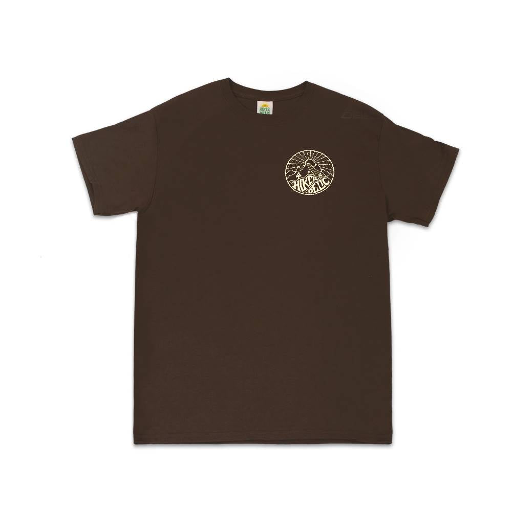 Hikerdelic Core Logo T-Shirt - Brown / Off White