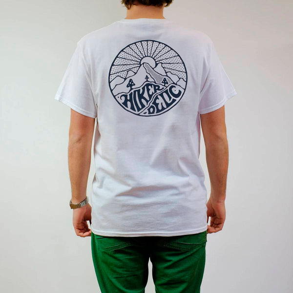 Hikerdelic Core Logo T-Shirt - White / Navy - Hikerdelic Shop