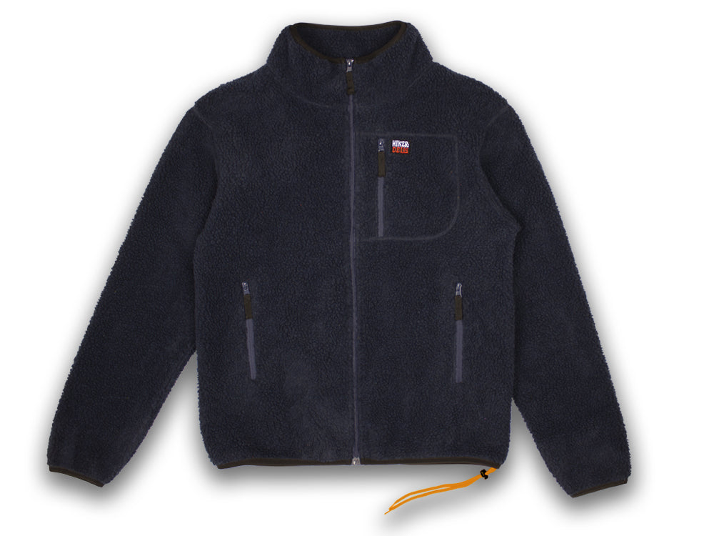 Hikerdelic Topping Fleece Jacket - Navy/Orange - Hikerdelic Shop