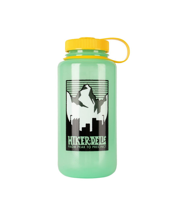 Hikerdelic x Nalgene 32oz Wide Mouth Bottle Glow Green