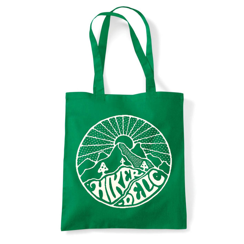 Hikerdelic Core Logo Tote Bag - Green/White
