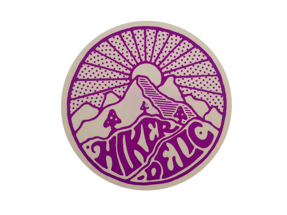 Hikerdelic Slip Mat - White / Purple - Hikerdelic Shop