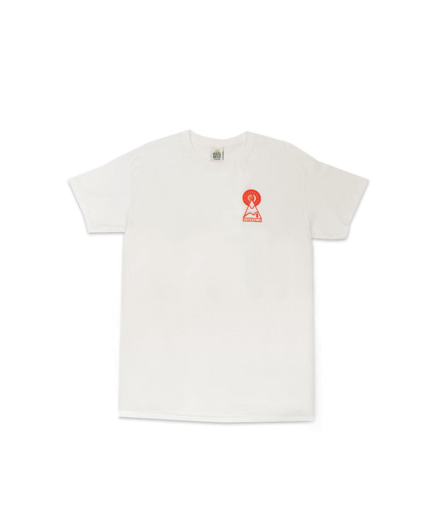 Hikerdelic Keyhole T-Shirt - White / Orange