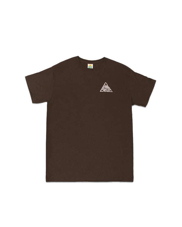Hikerdelic 60 degrees Mountain T-Shirt - Brown / White