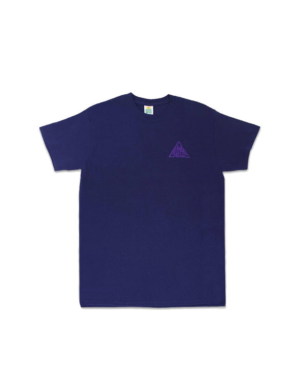 Hikerdelic 60 degrees Mountain T-Shirt - Navy / Purple