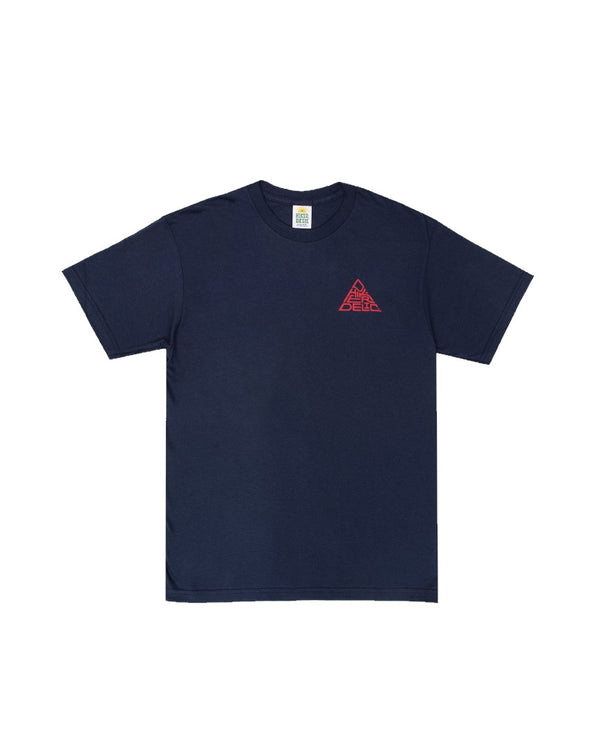 Hikerdelic 60° Mountain Logo T-Shirt - Navy/Red