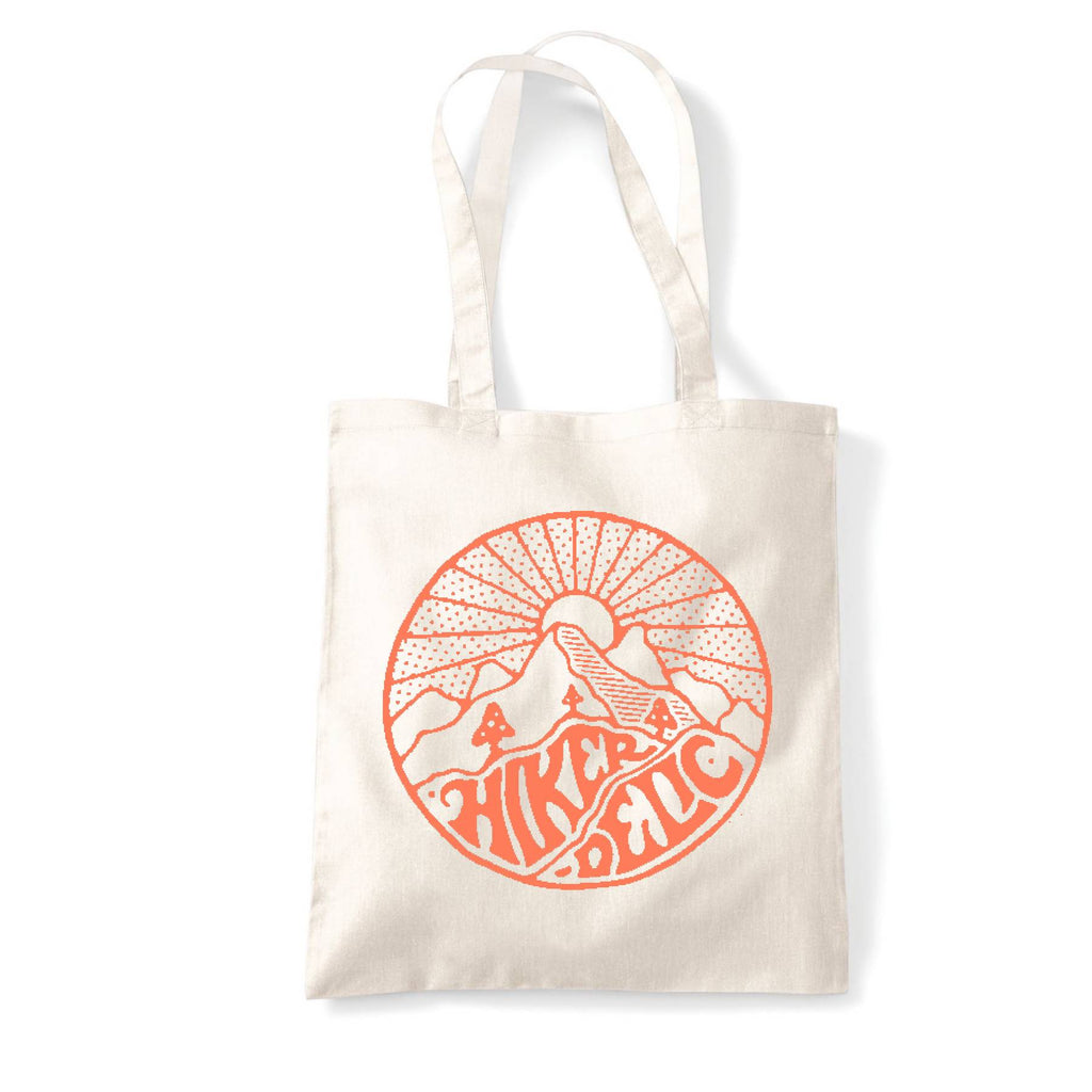 Hikerdelic Core Logo Tote Bag - Natural/Orange