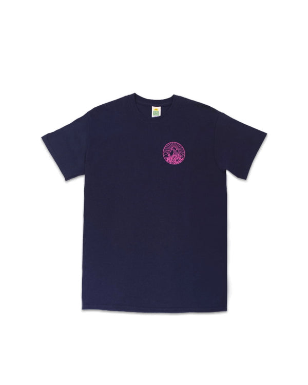 Hikerdelic Core Logo T-Shirt - Navy / Pink