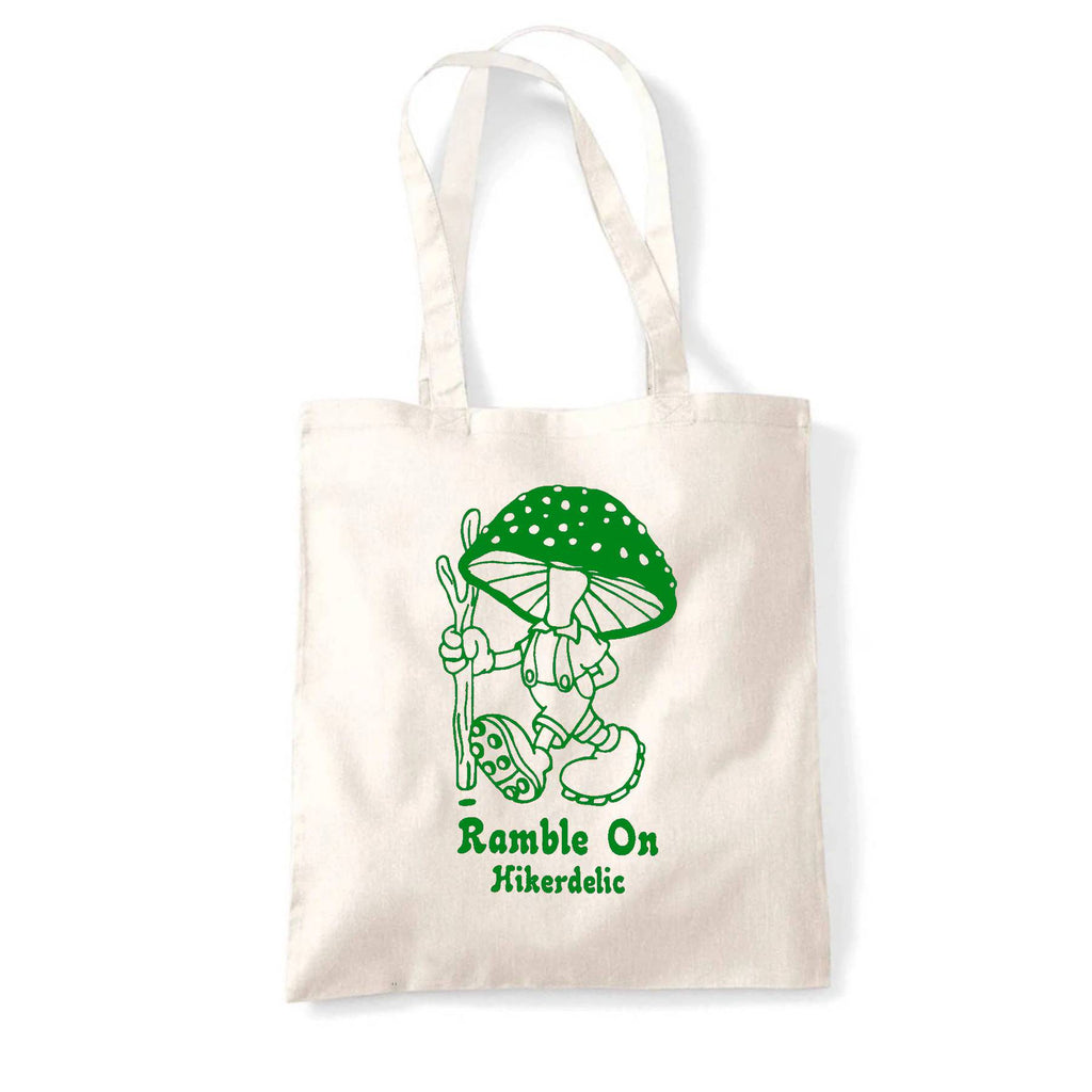 Hikerdelic Ramble On Tote Bag - Natural/Green
