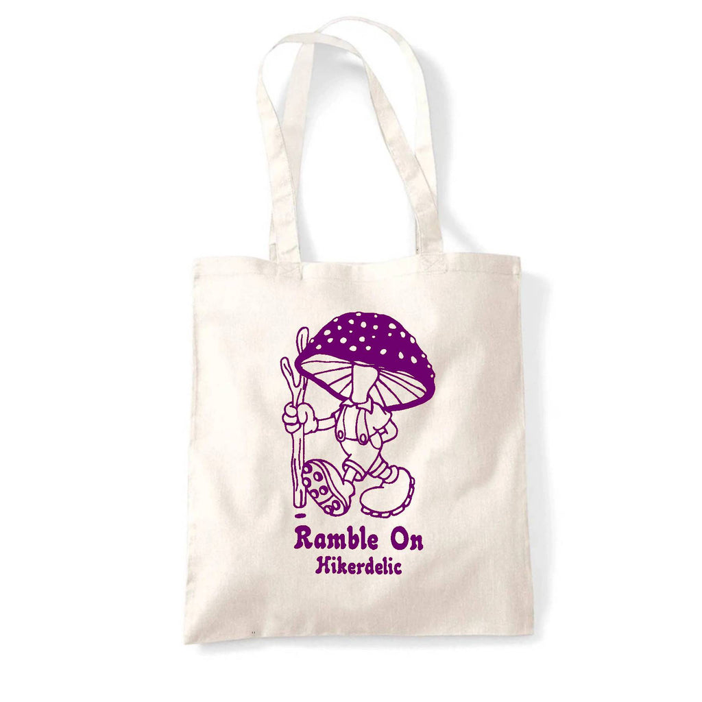 Hikerdelic Ramble On Tote Bag - Natural/Purple