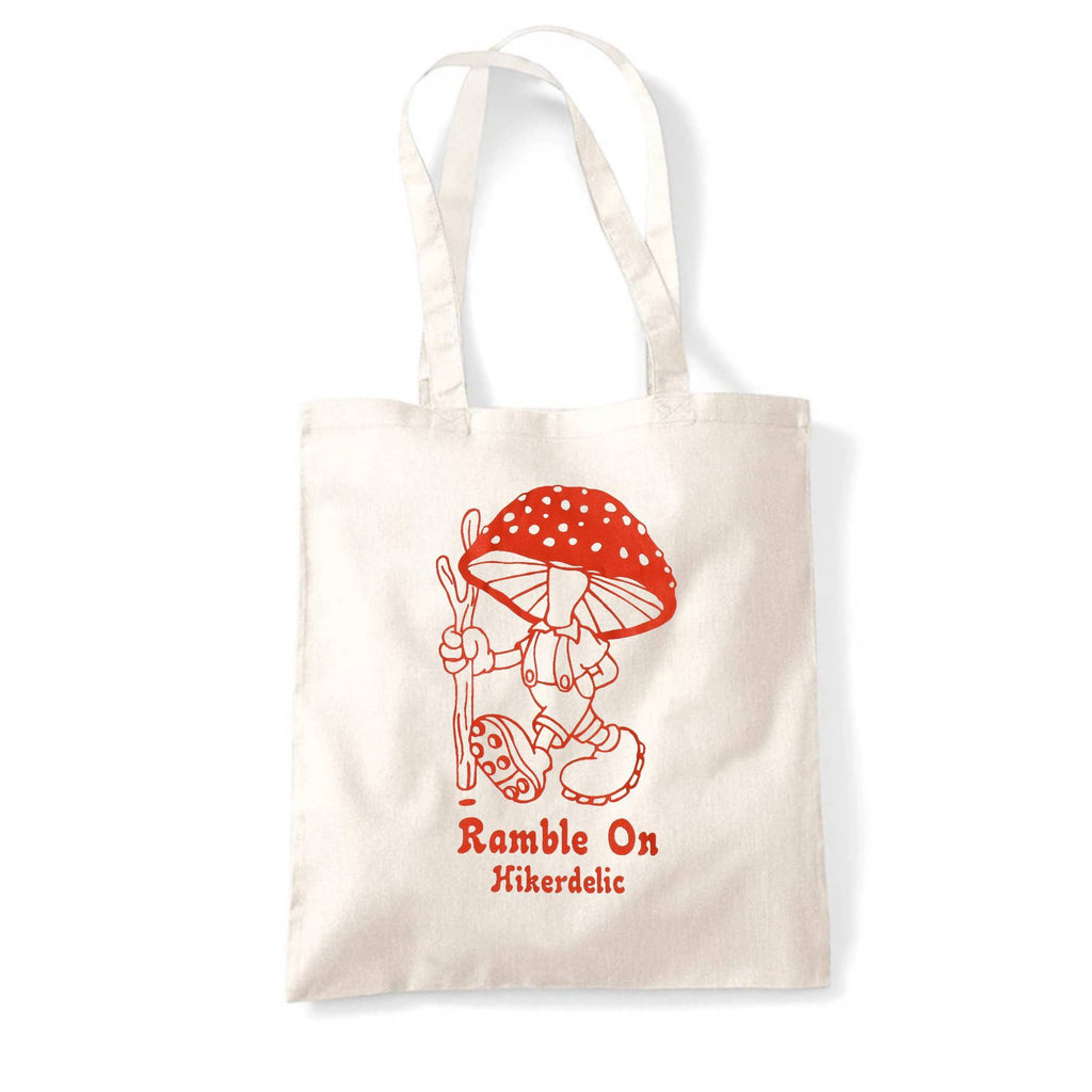 Hikerdelic Ramble On Tote Bag - Natural/Red