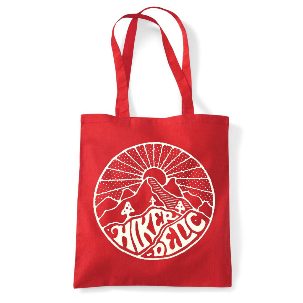 Hikerdelic Core Logo Tote Bag - Red/White