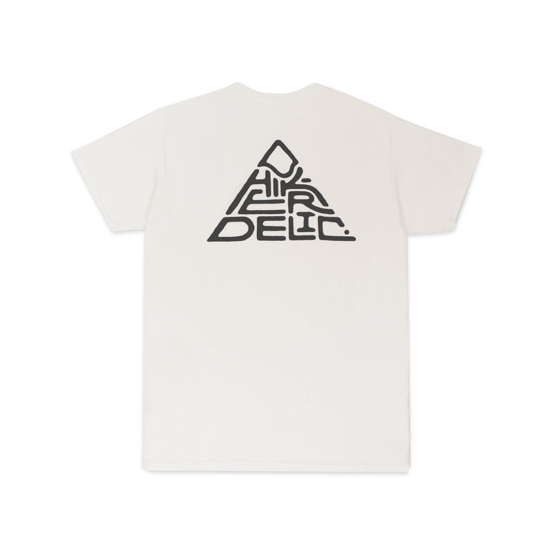 Hikerdelic 60 degrees Mountain T-Shirt - White / Black - Hikerdelic Shop