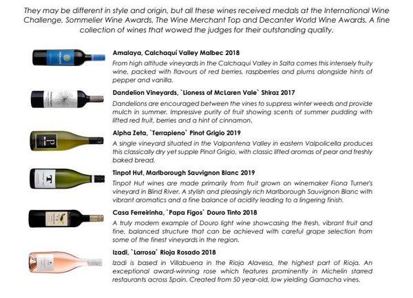 Award Winning Wines - 12 Bottle Box