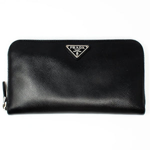 500c1df9045e4 Textured Black Saffiano Leather Wallet – LUXE PRELOVED