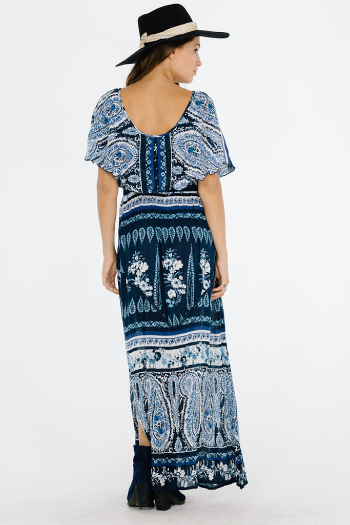 Luisa Ruffle Maxi Dress