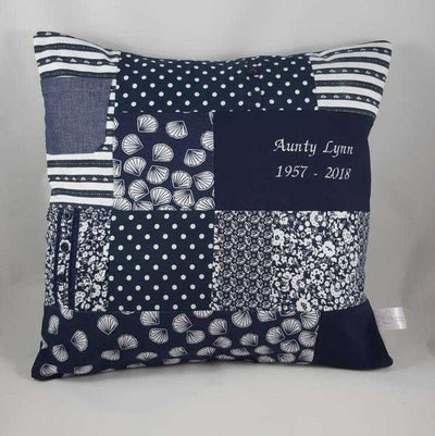 Memory Cushion - Larger Squares Patchwork Style Memory Cushion Lily Grace Keepsakes