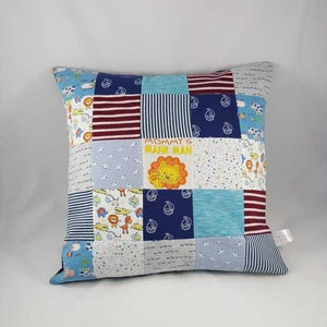 Memory Cushion - Small Squares Patchwork Style | Lily Grace Keepsakes