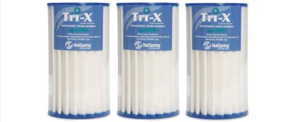 Hot Spring Spas THREE PACK Tri-X Filter Cartridge 73178 0969601 TriX