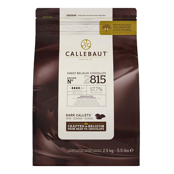 Callebaut 57.7% Semisweet Callets 2.5 kg