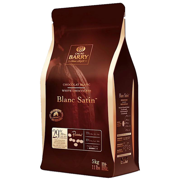 Cacao Barry Blanc Satin 29% White Chocolate - 5 kg