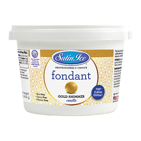 Satin Ice Gold Shimmer Fondant 1 lb