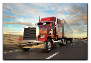 18 Wheel Red Truck Canvas Print or Poster  - Canvas Art Rocks - 1