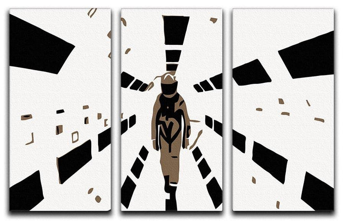 2001 A Space Odyssey 3 Split Panel Canvas Print