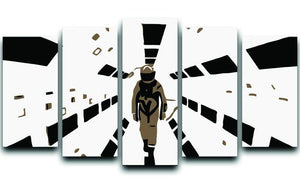 2001 A Space Odyssey 5 Split Panel Canvas  - Canvas Art Rocks - 1