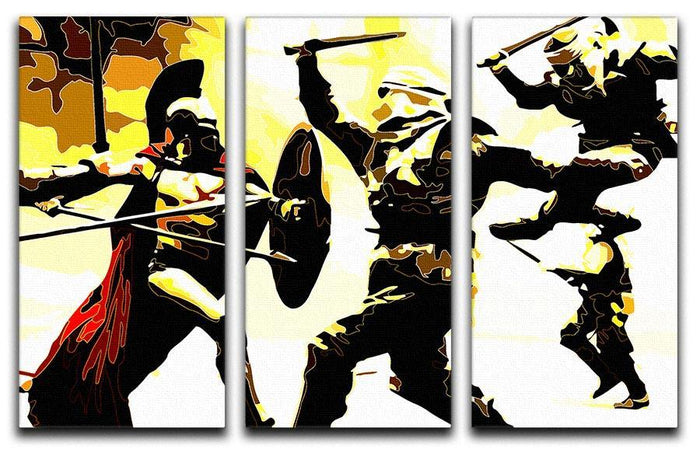 300 Movie Fight Scene 3 Split Panel Canvas Print