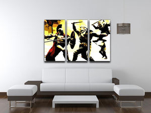 300 Movie Fight Scene 3 Split Panel Canvas Print - Canvas Art Rocks - 4
