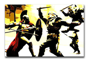300 Movie Fight Scene Print - Canvas Art Rocks - 1