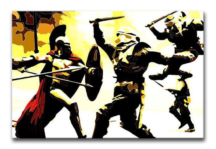 300 Movie Fight Scene Canvas Print or Poster