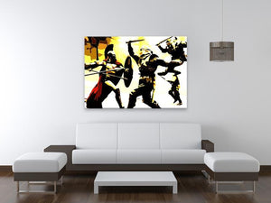 300 Movie Fight Scene Print - Canvas Art Rocks - 4