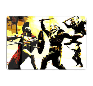 300 Movie Fight Scene HD Metal Print