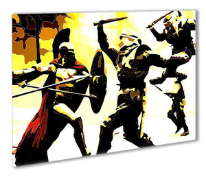 300 Movie Fight Scene Outdoor Metal Print - Canvas Art Rocks - 1