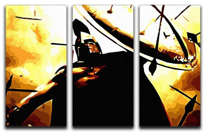 300 Movie Shield 3 Split Panel Canvas Print