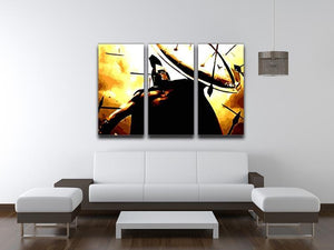 300 Movie Shield 3 Split Panel Canvas Print - Canvas Art Rocks - 4