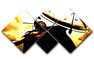 300 Movie Shield 4 Square Multi Panel Canvas  - Canvas Art Rocks - 1