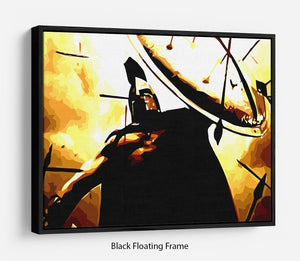 300 Movie Shield Floating Frame Canvas