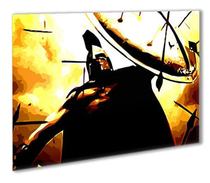 300 Movie Shield Outdoor Metal Print - Canvas Art Rocks - 1