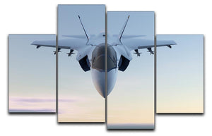 3D Jet F-35 fighter 4 Split Panel Canvas  - Canvas Art Rocks - 1