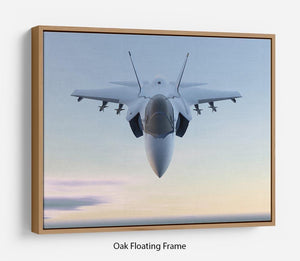 3D Jet F-35 fighter Floating Frame Canvas
