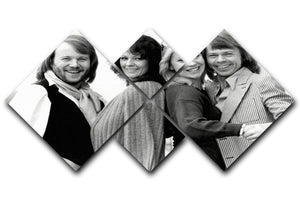 ABBA as couples 4 Square Multi Panel Canvas  - Canvas Art Rocks - 1