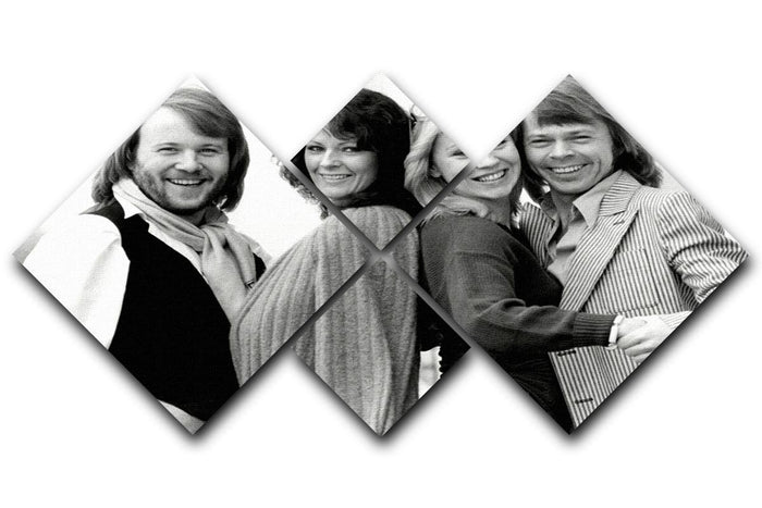 ABBA as couples 4 Square Multi Panel Canvas