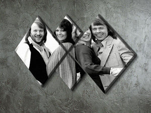 ABBA as couples 4 Square Multi Panel Canvas - Canvas Art Rocks - 2