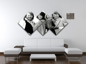ABBA as couples 4 Square Multi Panel Canvas - Canvas Art Rocks - 3