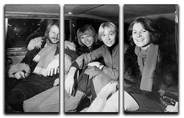 ABBA in a car 3 Split Panel Canvas Print
